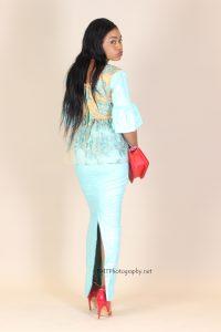 Coumba gracing a handmade African designer